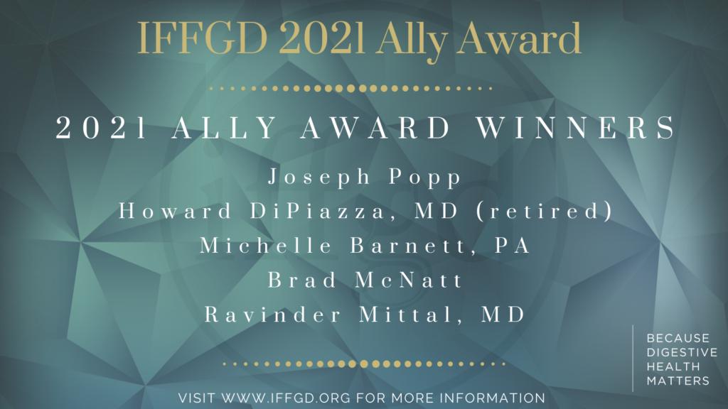 2021 IFFGD Ally Award winners