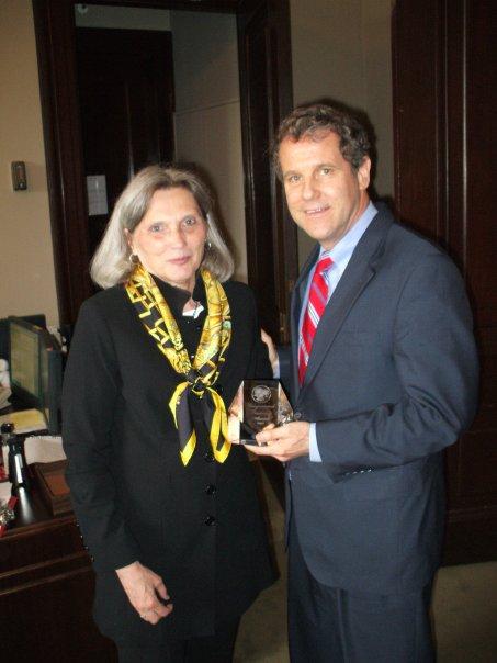 Nancy Norton meets with Senator Sherrod Brown (D-OH)