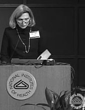 Nancy Norton addresses colleagues at the National Institutes of Health.