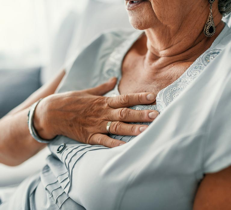 Senior Woman With Gerd Pain